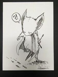 "OA Original Art! DAVID PETERSON Mouse Guard sketch 6"" x 8"" + signed print"