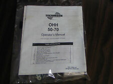 TECUMSEH OHV 5-7HP HORIZONTAL SHAFT 4-CYCLE AIR COOLED ENGINE MODEL#OHH50-70