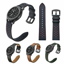 Leather Strap For Samsung Galaxy Watch 46mm Gear S3 Frontier Bracelet Wrist Band