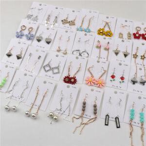 Fashion 30pairs/Lot 925 Silver Hook Stud Drop Dangle Earrings For Women Jewelry