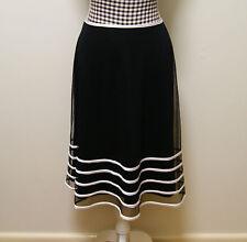WOMENS QUEENSPARK SKIRT BLACK WHITE MESH SKIRT, Sz 6 (Suit Sz 10) NWT RRP $149