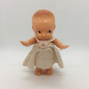"""Vintage Irwin Kewpie Doll Made in USA Movable Arms 6 1/4"""" h Hard Plastic"""