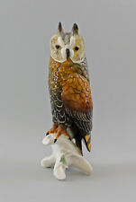 Porzellan Figur große Waldohreule Eule Vogel Ens H26cm 9997840#