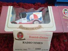Oxford Diecast vintage modello Van LIMITED EDITION RADIO Time'S MAGAZINE Van