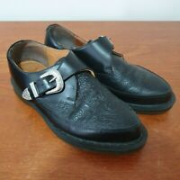 DR MARTENS Black Leather MARTEL Paisley Embossed Pointed Buckled UK 6 rrp £115