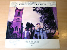 """Cry Before Dawn/Girl In The Ghetto/1987 Epic 12"""" Single + Autographs"""