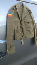 Original British Army Battle Dress With REME Badges