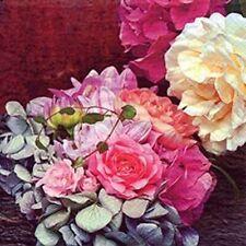 Serviettes 20 Morceaux,Splendeur Bouquet de Fleurs avec Roses et Hydrangea 33x33