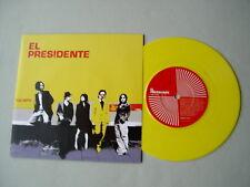 """EL PRESIDENTE 100 MPH/Saved By The Bell 7"""" yellow vinyl single Dante Gizzi Gun"""