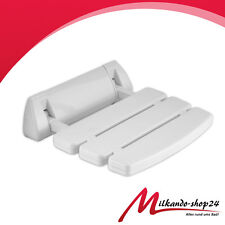 Shower Seat FOLDING up to 150 kg help Wall white