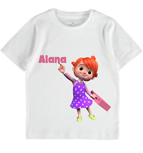 Cocomelon Personalised Name Age T-Shirt Boys Girls Toddlers clothes birthday