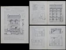 SAINT LEGER EN YVELINES -1921- PLANCHES ARCHITECTURE- LA FRETTE, ENGHIEN, BOUGIS