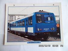 CARTE FICHE TRAIN AUTORAIL X-2200