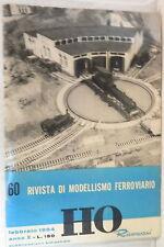 RIVISTA DI MODELLISMO FERROVIARIO RIVAROSSI HO N 60 Febbraio 1964 Treni Ferrovia