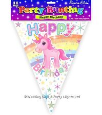12ft Unicorn Happy Birthday Bunting Pennant Flag Banner Girls Party Decorations