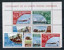 Dominikanische Republik 1068/71 Block 37 postfrisch / UPU - Eisenbahn ....1/1666