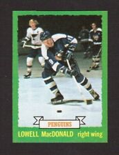 Lowell MacDonald Pittsburgh #128 1973-74 Topps NHL Hockey Card High Grade NM/M