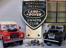 Land Rover Nordirland Irisch Owner´s Club Messing Grill Stoßstange Emblem