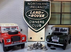 Land Rover Northern Ireland Irish Owners Club Brass Grill Bumper Badge Quality