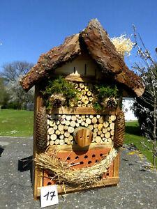 Insektenhotel für Wildbienen /  Schmetterling und 1x Blumenwiese geschenkt  (17)