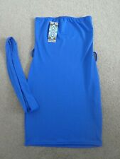 LADIES/TEENS/GIRLS BLUE BANDEAU DRESS SIZE 8 FROM BOOHOO NEW WITH TAGS