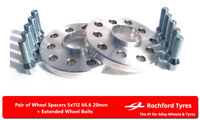 Wheel Spacers 20mm (2) 5x112 66.6 +Bolts For Mercedes S-Class [W126] 79-91