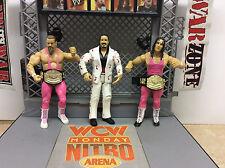 WWE WWF Jakks Superstars Hart Foundation tag team w/ Jimmy Hart lot of 3