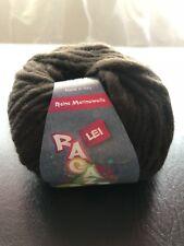 New! 7 Skeins of Ragazza Lana Grossa Lei Yarn Dark Brown