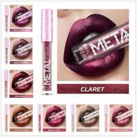 Long Lasting Lip Liquid Matte Metallic Glitter Lipstick Lip Gloss Makeup 12Color