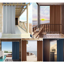 Outdoor Curtains Waterproof Blackout Sunscreen Curtains for Patio Garden Balcony