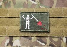 Blackbeard OD Green Pirate Tactical Hook Military Morale Patch North Carolina NC