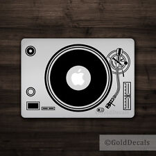 DJ Turntable - Mac Apple Logo Laptop Vinyl Decal Sticker Macbook Music Record