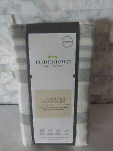Threshold Performance Plaid Pillowcases Standard Queen