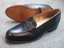 Sanders Men's Made in England Penny Style Slip-on Dress Shoe - Black - Size 9 D
