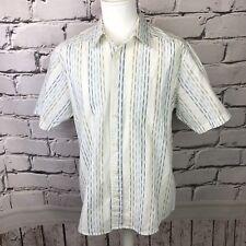 Mens Fat Face Short Sleeved Striped Shirt Size  M Medium mens 100% cotton