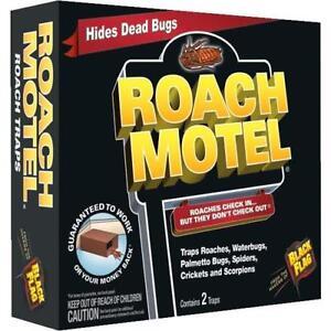Black Flag Roach Motel Cockroach Killer Bait Glue Traps 1 box has two traps
