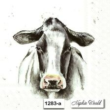 (1283-a) Two Individual Paper Luncheon Decoupage Napkins - Milk Cow Dairy Cattle