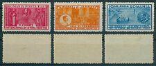 Rumänien 1932 Mi.443-45 * Kongreß für Geschichte der Medizin,König Karl II.