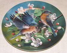 ~Knowles Collectible Bird in Your Garden Plate THE BLUEBIRD Artist Kevin Daniel~