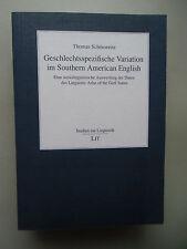 Geschlechtsspezifische Variation im Southern American English soziolinguistische