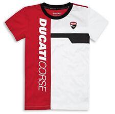 DUCATI Corse Track Kinder KIDS kurzarm T-Shirt rot weiß NEU 2021
