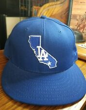 LOS ANGELES DODGERS Blue New Era Hat Cap 59Fifty Authentic. VERY RARE STYLE!!