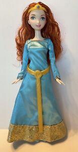 Barbie Mattel Disney Pixar Princess Merida Doll W/Dress Headband Shoes.