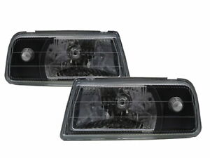 Tracker 1988-1998 Convertible 2D Clear Headlight Black for GEO LHD