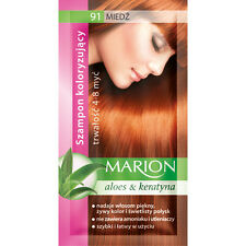 Buy 2 Get 1 MARION Hair Color Shampoo Lasting 4-8 Washes No Ammonia 91. Light Copper