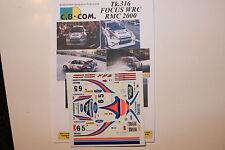 DECALS 1/24 FORD FOCUS WRC COSWORTH CARLOS SAINZ RALLYE MONTE CARLO 2000 RALLY