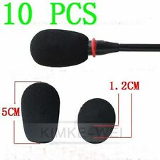 10 x Black Microphone Headset Windscreen Foam Mic Cover 50x12 mm