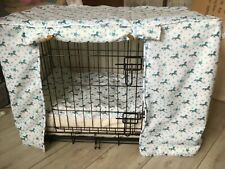 dog crate, cover and cushion