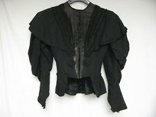 Vintage 1900's Women's Black Traveling Suit Jacket Marshall Field & Co Ex Sm