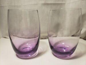 Set of 2 Leonardo Swing cheers purple Tumblers GERMANY 12 oz.